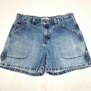 VTG SZ 8 Tommy Hilfiger Jean Shorts Denim High Wai
